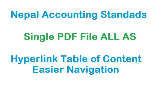 Download Nepal Accounting Standards Single PDF File with Hyperlink TOC
