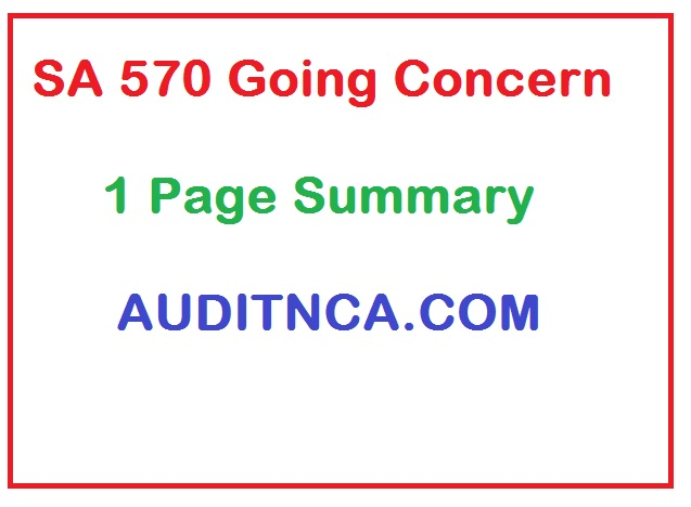 Summary of Auditing Standards 570 Going Concern